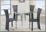 Chic Dinette with Square Table Intricately Designed Chairs Set by Global Furnither USA (SKU: GL-A818S-DT-BLSET)