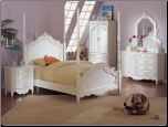 Pearl Twin Poster Bed Collection (SKU: AC-1000TP)