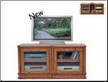 Danbury Oak Finish Adjustable TV Stand