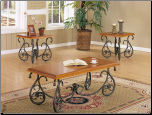 Pasadena Oak 3pc Pack Coffee/End Table Set (SKU: AC-6745)