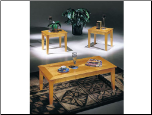 Sicily Maple 3pc Coffee/End Table Set (SKU: AC-7245)