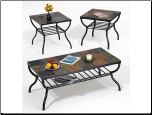 Martinez Stone Top Coffee/ End Table Set (SKU: AC-8033)