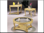 Kimberly White Finish Coffee/ End/ Sofa Table Set (SKU: AC-8589SET)