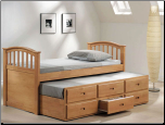 Mill Creek Maple Full Bed & Twin Trundle w/ Drawers (SKU: AC-8933)