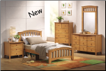 San Marino Maple Finish Full Bed Collection (SKU: AC-8967)