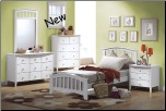San Marino White Finish Full Bed Collection (SKU: AC-9139)