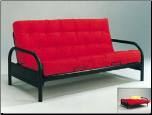 "Alfonso 29"" Black Arm Span Futon Sofa Bed (SKU: AC-2172)"
