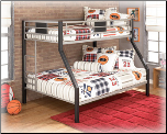 Dinsmore  -  Twin/Full Bunk Bed  (B106) Signature Design by Ashley Furniture (SKU: AB-106-56BB)
