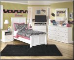 Signature Design by Ashley Furniture Bostwick Shoals White Full Panel Bedroom Set B139-54-57-96 (SKU: AB-B139TWIN-SET)