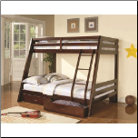 Twin-over-Full Bunk Bed with 2 Storage Drawers (SKU: CO-460228)