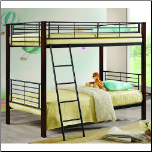 Twin/Twin Bunk Bed with Wood Posts & Metal Frame (SKU: CO-460027)