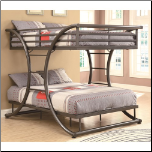 Full-over-Full Contemporary Bunk Bed