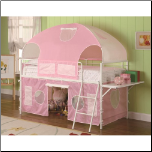 White & Pink Tent Bunk Bed (SKU: CO-460202)