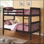 Twin Over Twin Bunk Bed with Full Length Guard Rails (SKU: CO-460234)