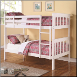 Twin Over Twin Bunk Bed with Full Length Guard Rails (SKU: CO-460244)