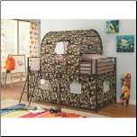 Camouflage Tent Loft Bed