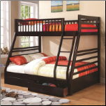 Vincent Twin Over Full Bunk Bed - Coaster 460184 (SKU: CO-460184)