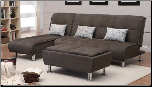 Coaster Furniture 300277 Sofa Beds Casual Styled Living Room Chaise Sleeper
