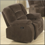 Casual Rocker Recliner in Soft Brown Upholstery (SKU: CO-600993)
