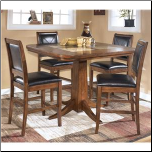 Croften  -  Marble Top Counter Height Table Set Signature Design by Ashley Furniture (SKU: AB-D456-S2)