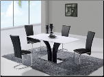 D161DT Dining Set 5Pc w/457DC Black Chairs by Global Furniture