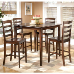 Millpoint  -  Counter Height Dinette Set & 4 Barstools (SKU: AB-D215-223-1)