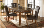 Lacey -  Luxurious Dark Brown Dining Room Set Signature Design by Ashley Furniture (SKU: AB-D328)