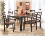 Alonzo  - Dining Room Set with Rectangular Butterfly Leaf Table Set Signature Design by Ashley Furniture