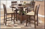 Nico   -  Counter Height Extended Table Set & 4 Bar Stools Signature Design by Ashley Furniture (SKU: AB-D441-S01)