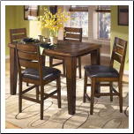 Larchmont  - Cozy Butterfly Leaf Pub Table Signature Design by Ashley Furniture (SKU: AB-D442-S5)