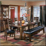 Larchmont  - Practicable Dining Room Set with Rectangular Extension Table Signature Design by Ashley Furniture