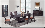 Global Furniture Wenge Finish Wood Dining Table and 6 Chairs D52-WENGE/DC (SKU: GL-D52-WENGE)