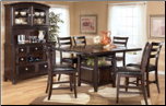 Ridgley  - Dining Room Set with Counter Height Table Signature Design by Ashley Furniture (SKU: AB-D520-C)