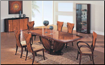 D52  -   Coffee and Dark Brown Color Finished Dining Room Set By Global Furnither USA (SKU: GL-D52-SET)