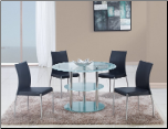 D79DT Dining Set 5Pc w/841DC Black Chairs by Global Furniture (SKU: GL-D79DT  DB841DC-BL)