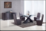 Dining Set Brown- Global Furniture (SKU: GL-DG018DT  D105DC-BR)
