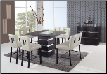 Dining Set Beige - Global Furniture (SKU: GL-DG072BT  DG072BS-BEI)