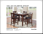 NEW FALL ITEMS from MASTERMADE -DALLAS COUNTERHEIGHT 5pc (SKU: MM-DallasContempo)