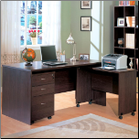"Contemporary ""L"" Shaped Writing Desk and Return - Decarie by Coaster"