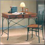 Desks Casual Table Desk and Chair by Coaster