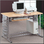 Desks Casual Contemporary Computer Desk with Keyboard Tray by Coaster