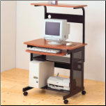 Desks Casual Contemporary Computer Unit with Computer Storage and Casters by Coaster