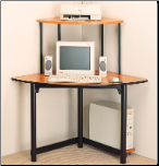 Desks Casual Contemporary Corner Computer Unit by Coaster