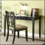 Desks Table Desk with Two Drawers & Desk Chair by Coaster (SKU: CO-800779)