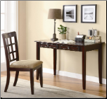 Desks Table Desk with Two Drawers & Desk Chair by Coaster (SKU: CO-800780)