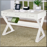 Computer Desk in White  finish by Coaster