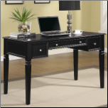 Desks Classic Table Desk with Keyboard Drawer and Power Outlet by Coaster