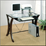 Stirling L Shape Computer Desk with Keyboard Tray by Coaster (SKU: CO-800445)