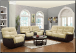 Coaster 601071-72 Elaina Comfortable Reclining Set (SKU: CO 601071-SEC)