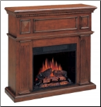Electric fireplace mantel with heater insert (SKU: CO-900352)